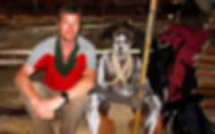 John Sullivan in Papua New Guinea with Biami tribesman