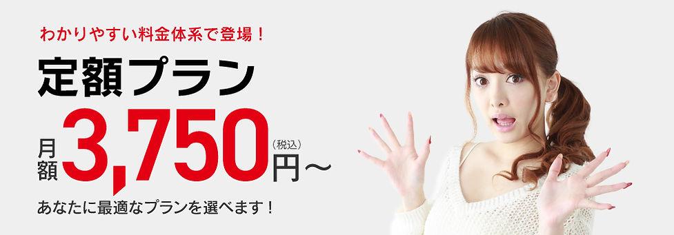 わかりやすい料金体系の「定額プラン」登場!