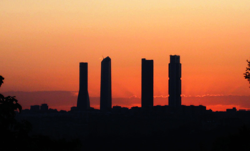 Skyline actual de Madrid