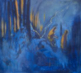 followed by my shadow 100 x 110cm oil on