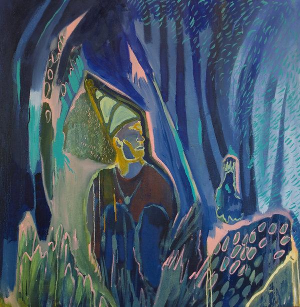 Jasmine mills - the fool, nesting - 96 x