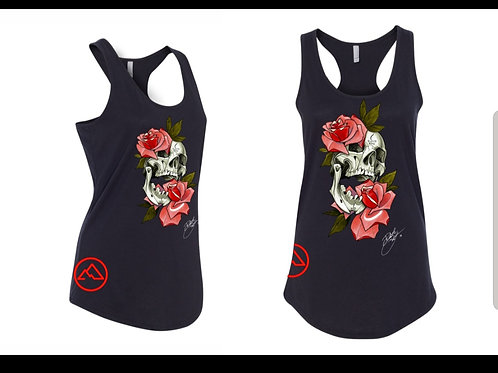 Female Skull Rose tanktop