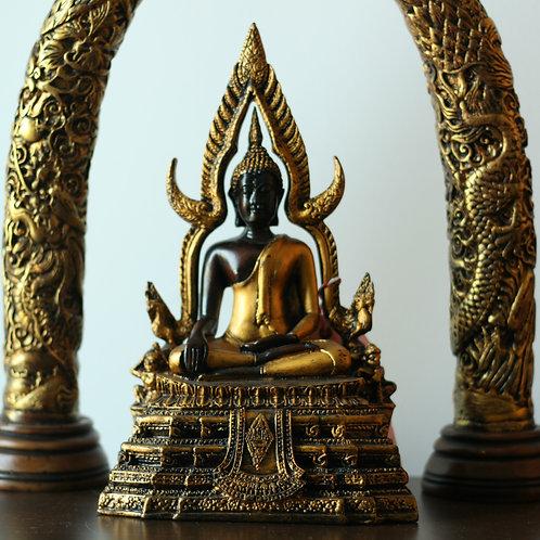Gold Bhumisparsha Buddha Statue