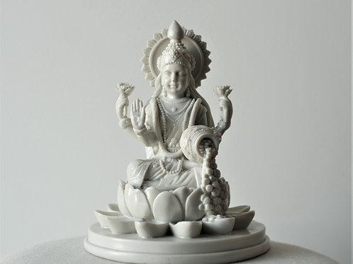 White Lakshmi Statue