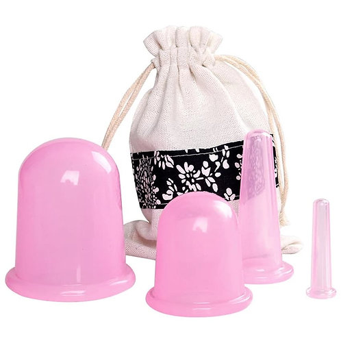Body & Face Anti-aging /Anti-cellulite Silicone Cup 4pc Set