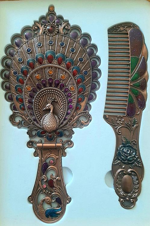 Handheld Mirror & Comb Set A
