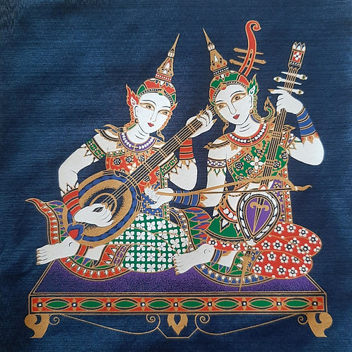 """""""Cultural Assembly 2"""" Thai Silk Print Painting"""