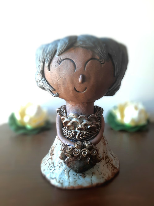 Handmade Doll - Ceramic Plant Decor