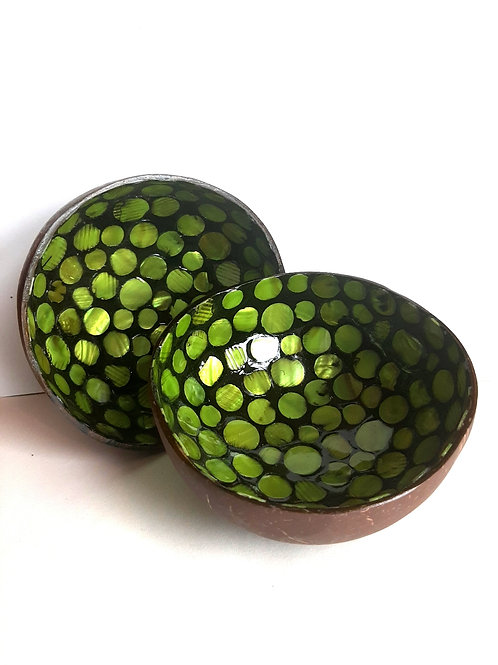 Green Coconut Bowl Set