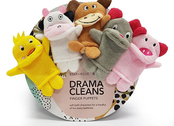 Drama Cleans Finger puppets