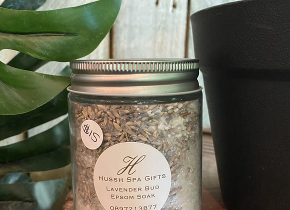 lavender bud with  epsom salt soak