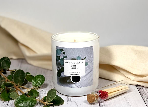 Crisp Linen Scented Candle