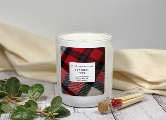 Flannel Type Candle Jar