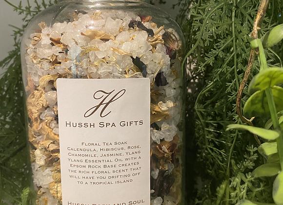 floral tea soak