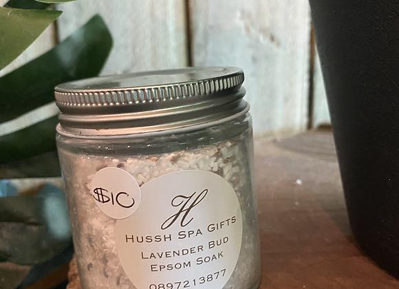 lavender bud with epsom salt soak