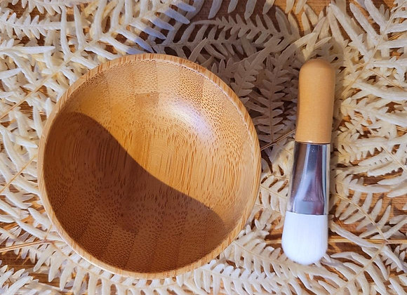 Mini Bamboo Bowl & Brush