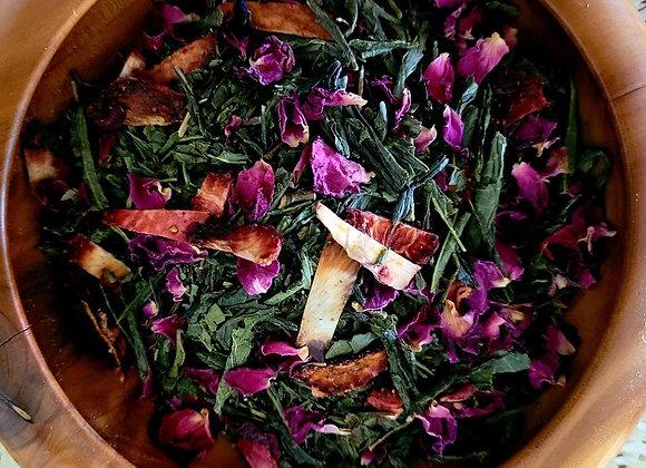 """Senchual"" Strawberry Organic Tea Blend"