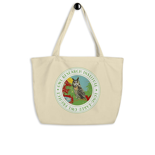 Large organic tote bag - Long-eared Owl Project