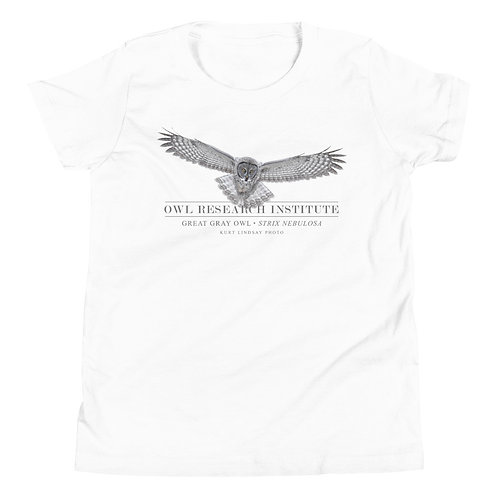 Youth Short Sleeve - Great Gray in flight