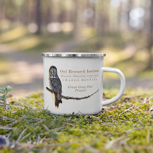 Enamel Mug - Great Gray Owl Project