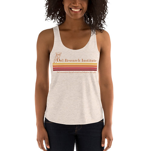 Women's Tri-Blend Racerback Tank - Retro logo stripe