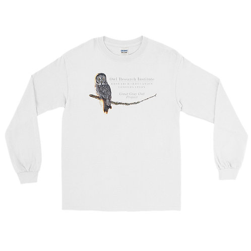 Men's Long Sleeve Shirt - Great Gray Owl Project