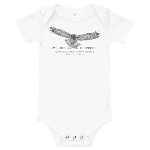 T-Shirt onesie - Great Gray in flight