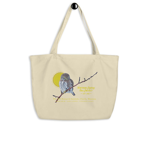 Large organic tote bag - Northern Pygmy Owl Project