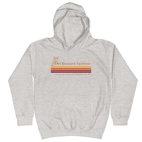 Kids Hoodie - Retro logo stripe