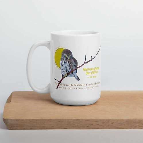 Large Ceramic Mug - Northern Pygmy Owl Project