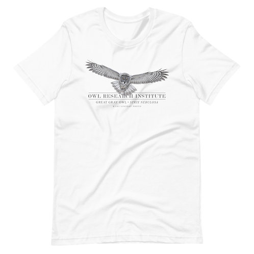 Short-Sleeve Unisex - Great Gray in flight