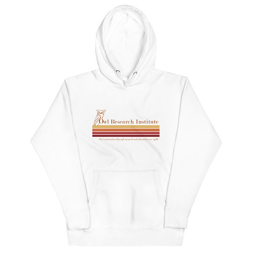 Unisex Hoodie - Retro logo stripe