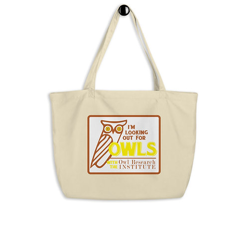 Large organic tote bag - I'm Looking out for Owls