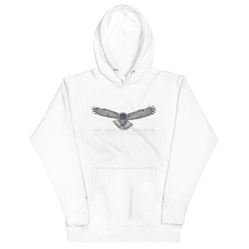 Unisex Hoodie - Great Gray in flight