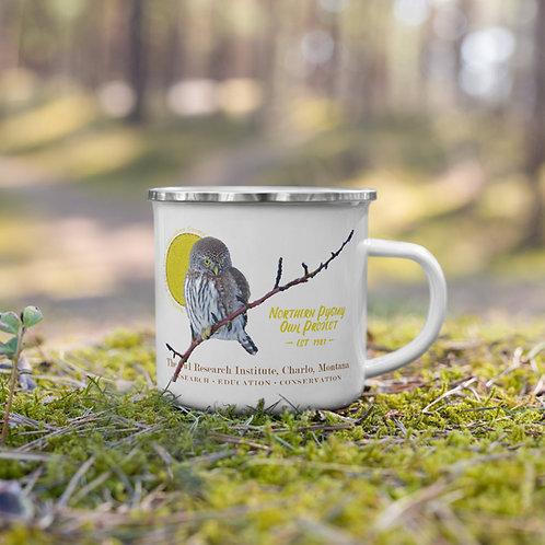 Enamel Mug - Northern Pygmy Owl Project