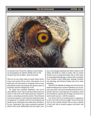 Alabama Ornithological Society - Denver Holt, Keynote Speaker