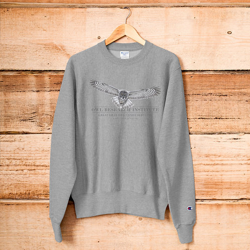 Champion Sweatshirt - Great Gray in flight