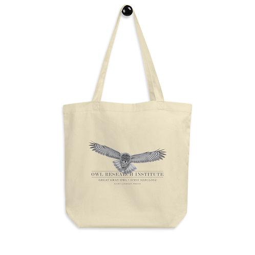 Eco Tote Bag - Great Gray Owl in flight
