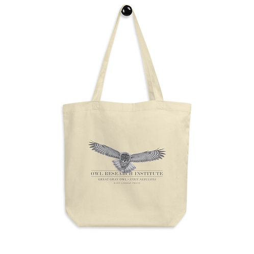 Eco Tote Bag - Great Gray Owl in flight