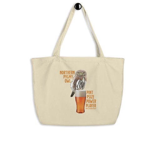 Large organic tote bag - Pint Psized Power Player