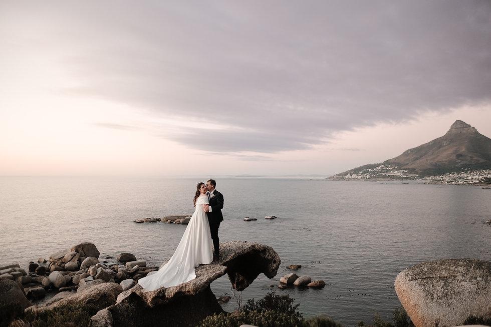Bride and Groom Beachfront