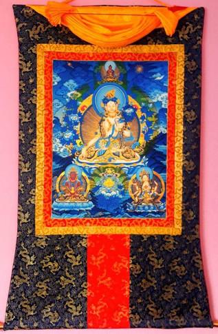 Tara Blanche, avec Amitayus et Namgyelma