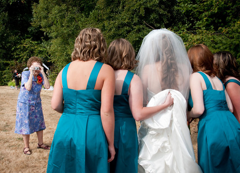 Wedding day fun photography