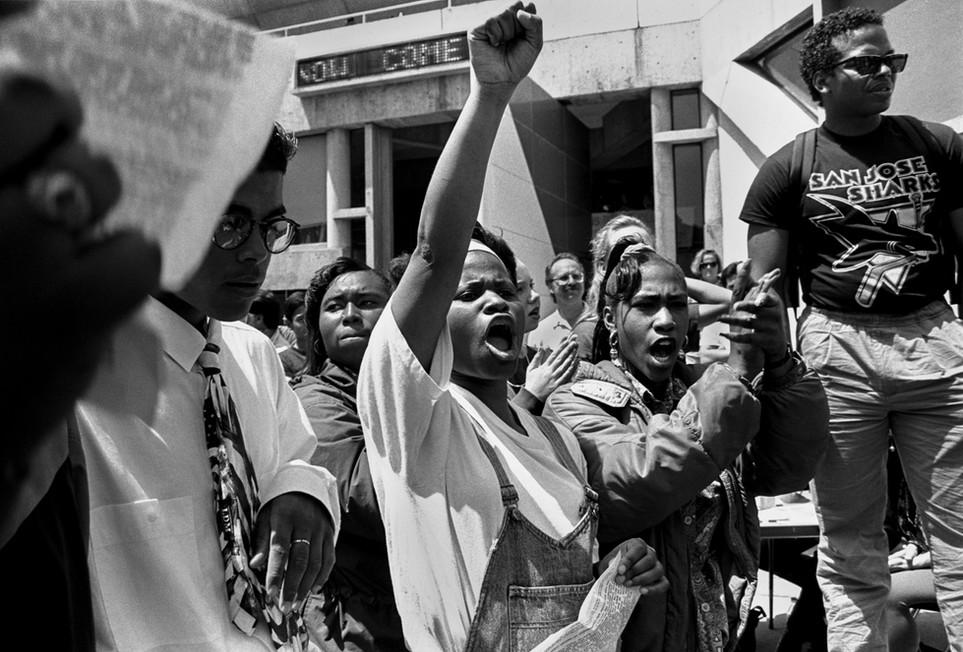 Rodney King protest, SFSU, San Francisco 1991