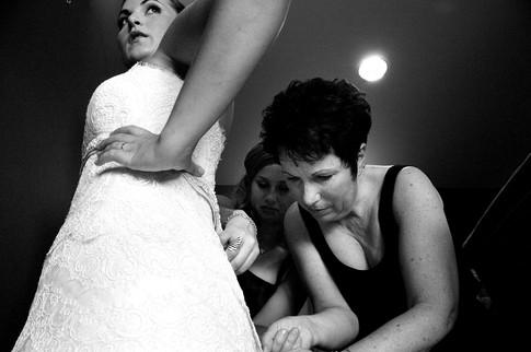 Wedding day getting ready photo