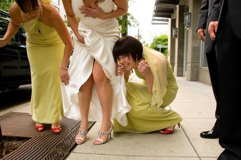 Wedding day documentary style photography