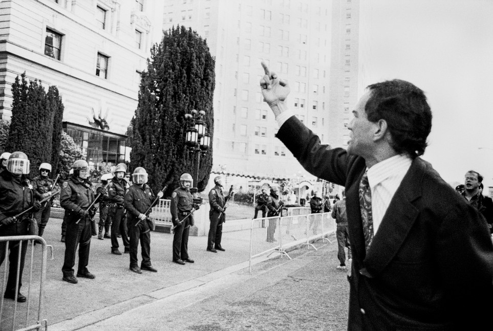 Pete Wilson protest, San Francisco 1991
