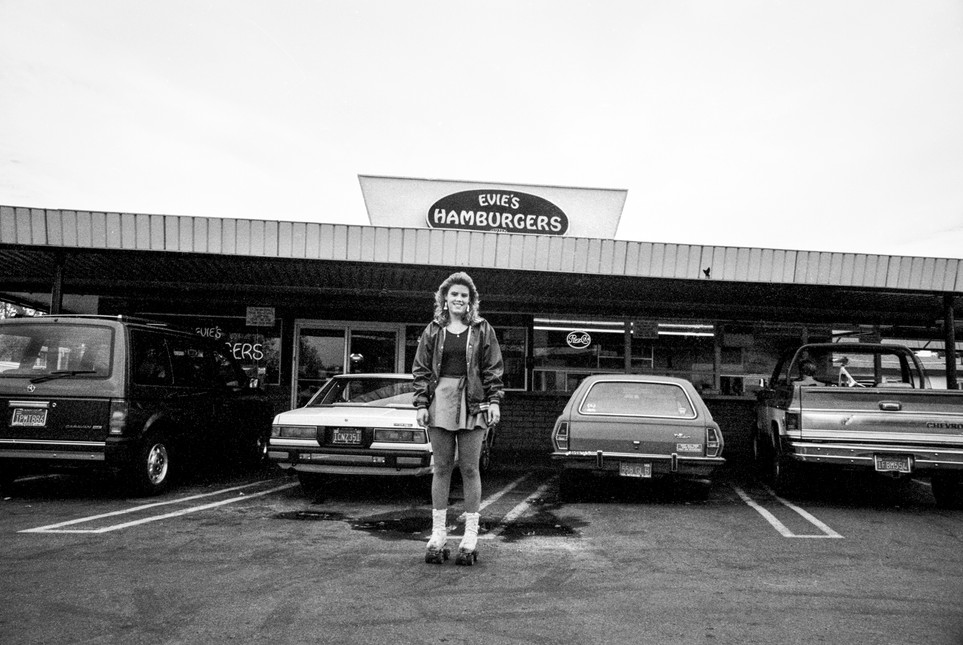 Roller-waitress, Evie's Drive-in Hamburgers. Pleasant Hill, California 1986