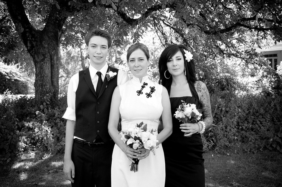Black and white wedding day photography