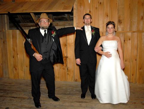 Fun wedding day photography